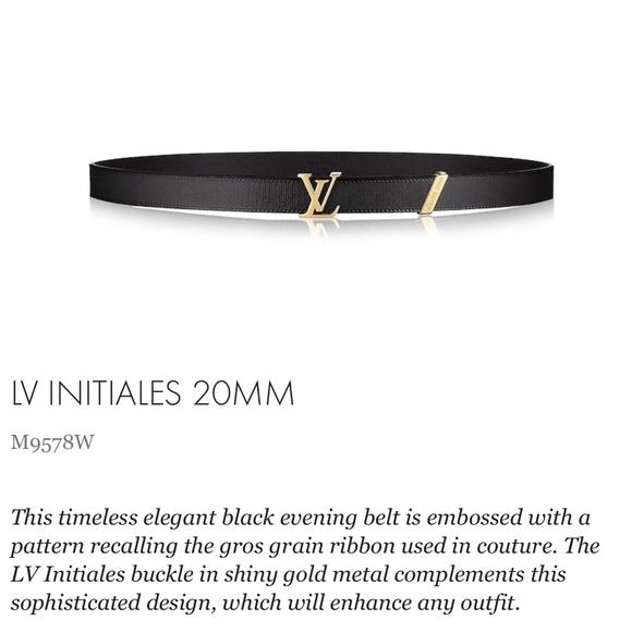 d2bea6ae8f6ab Louis Vuitton Accessories - Louis Vuitton Initiales Belt
